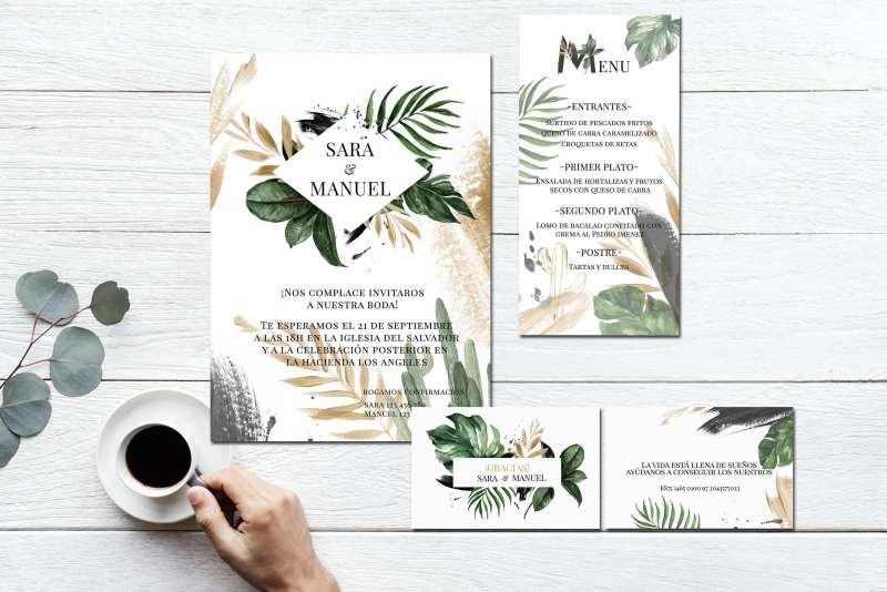 Pack Papelería Botanic Gold 2019 zoom - Papelería para Descargar: Flower Gold y Botanic Gold