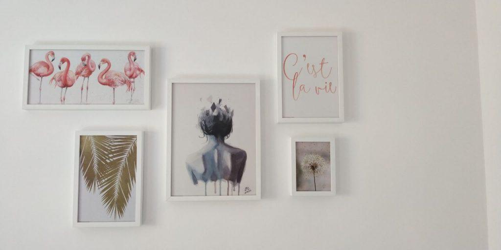 collage de cuadros posterlounge - Cómo he Decorado las Paredes de mi Casa con Cuadros