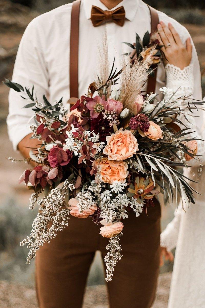 ramo para boda boho - Ideas para la Decoración de Bodas Bohemias