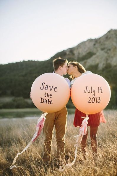 Save the date con globos