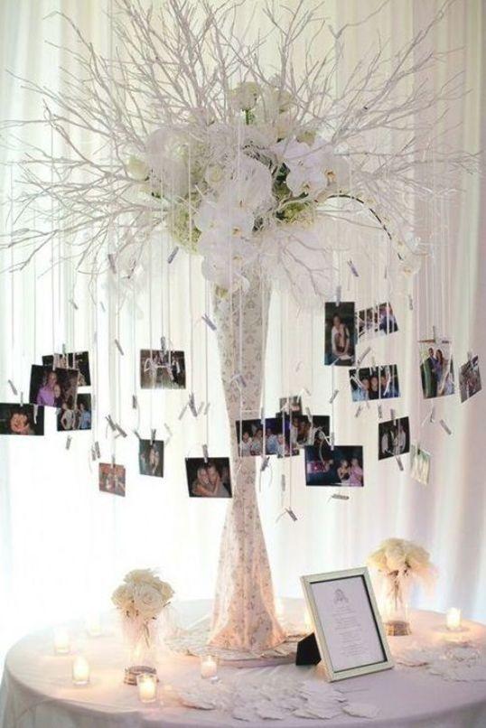 memory corner con fotos polaroids - Decoración con Fotografías Polaroid