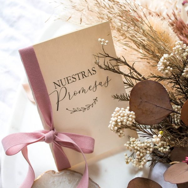 libretas para promesas boda