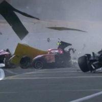 Terrible Accidente en la F2 de Bélgica donde el Frances Hubert pierde la vida.