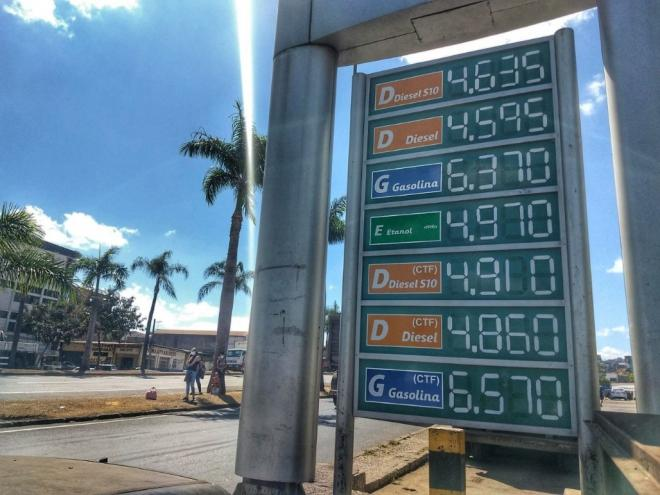 Fuel prices this Sunday (8/23), on the sidelines of the BR-381 in Ipatinga