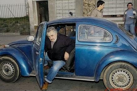 Mujica e seu fusca são uma inspiração