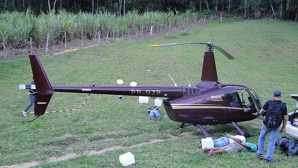 Sobre o helicóptero a mídia não fala nada