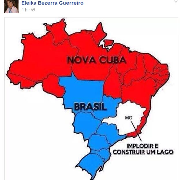O mapa da vereadora do RN Eleika Bezerra Guerreiro