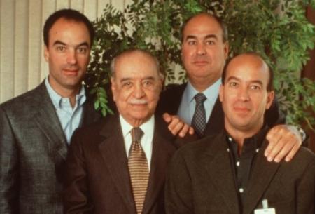 Roberto Marinho e os filhos