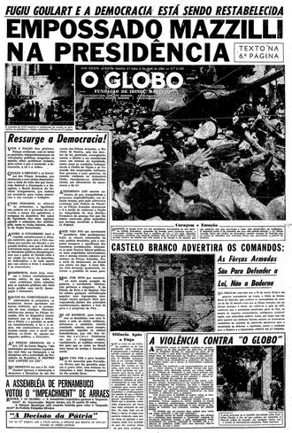 press-o-globo-2-de-abril-de-1964