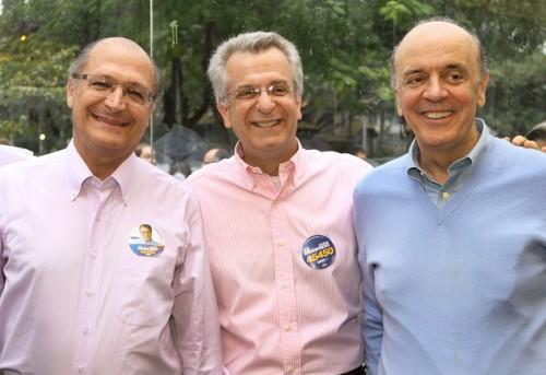 Alckmin, Matarazzo e Serra