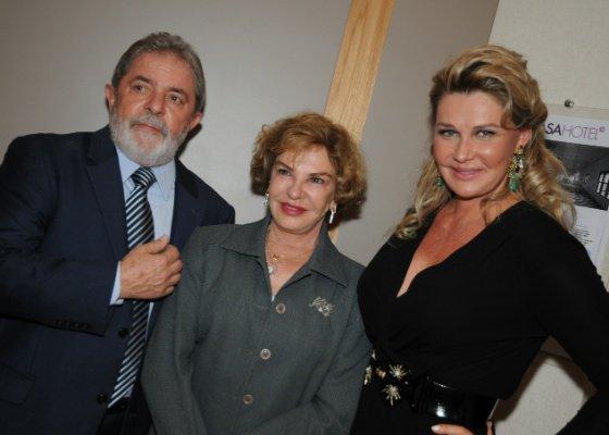 Bia Doria com Lula e a mulher Marisa