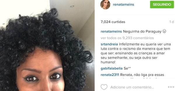 Renata Meins é loira