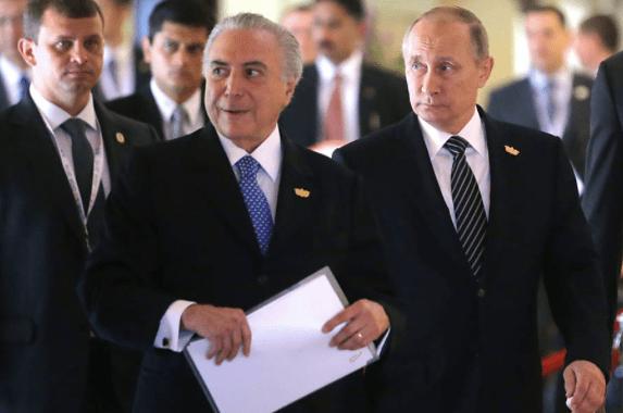 Segundo Temer, Putin propôs casamento, mas não rolou