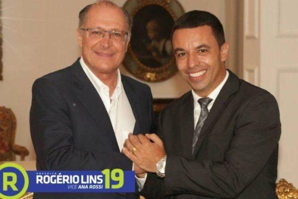 O candidato Rogério Lins