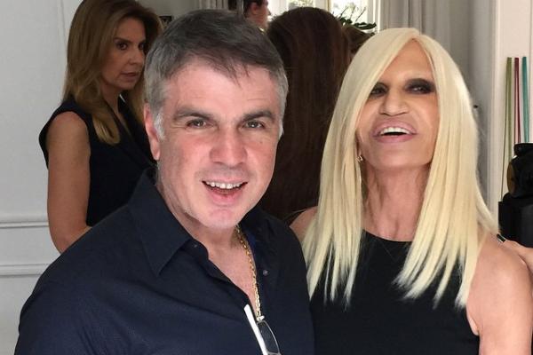 Flávio Rocha e Donatella Versace