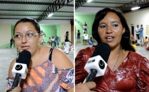 Irislene (esq.) e Maria de Lourdes enaltecem o projeto