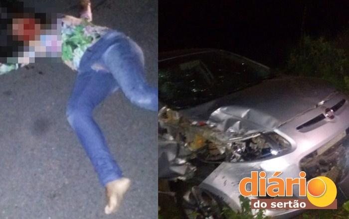 Adolescente morreu no local do acidente (foto: reprodução WhatsApp)