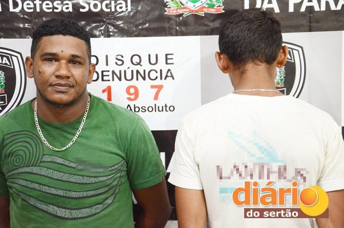 Vigilante e menor foram levados para delegacia de polícia civil (foto: Diário do Sertão)