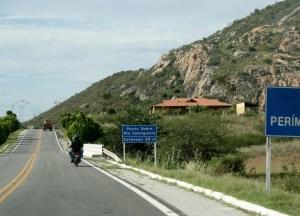 Entrada da cidade de Catingueira pela BR 361