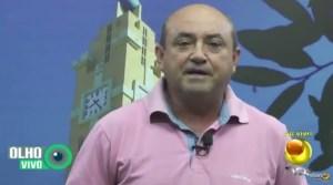 Jocildo Cachoeira, secretário de Saúde de Cachoeira dos Índios, no programa Olho Vivo