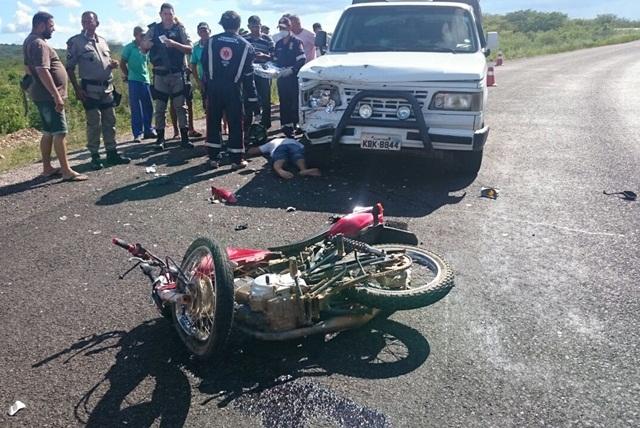 O acidente aconteceu nesse sábado em rodovia do Sertão da Paraíba