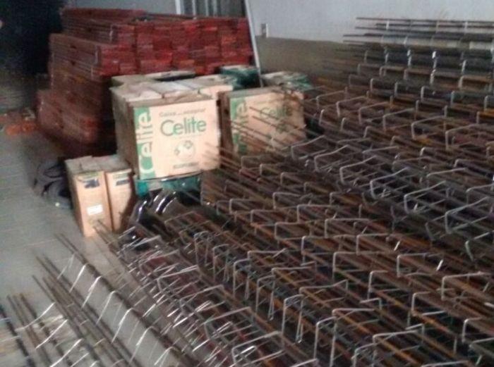 Material de construção apreendido no Sertão da Paraíba