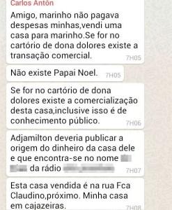 Resposta do ex-prefeito Carlos Antonio