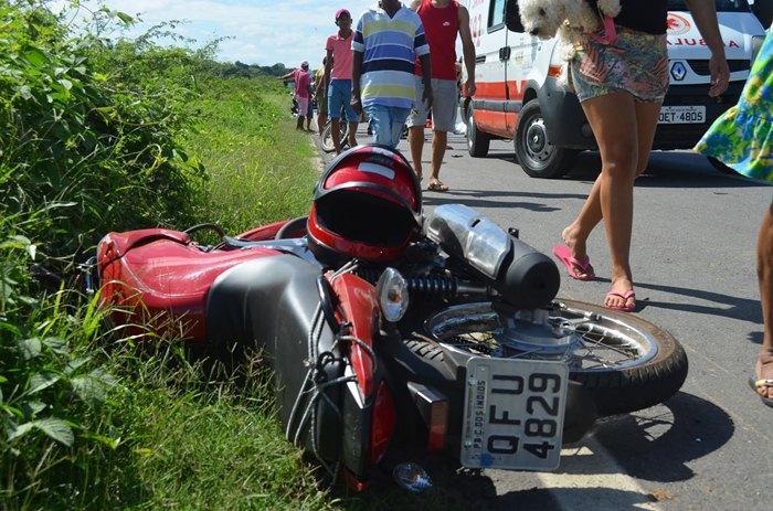 Acidente registrado em Cajazeiras (foto: Ângelo Lima)