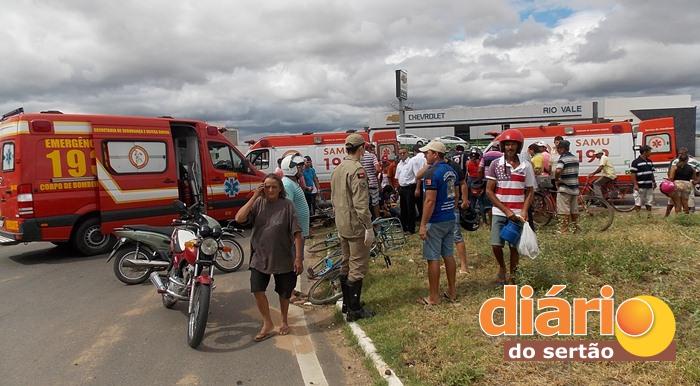 Acidente foi registrado na BR 230 em Sousa (foto: DS)