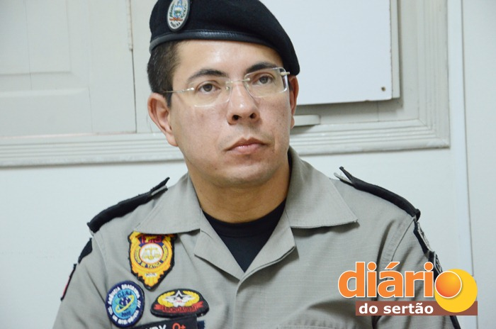 Major Jurandy Pereira, comandante do 14° BPM (Foto: Charley Garrido)