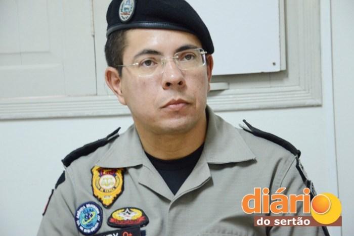Major Jurandy Pereira, comandante do 14° BPM (foto: Charley Garrido)
