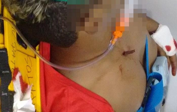 O jovem foi socorrido e levado até o HRP mas acabou morrendo (Foto: WhatsApp)