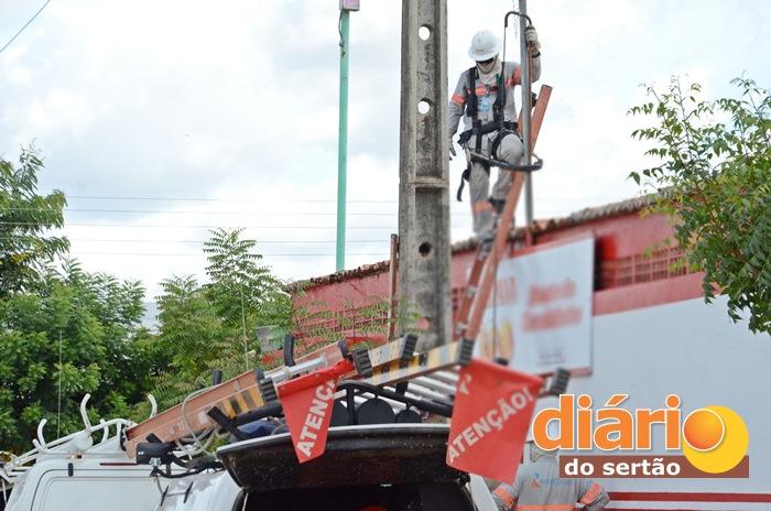 Energisa durante operação e m Sousa (foto: Charley Garrido)
