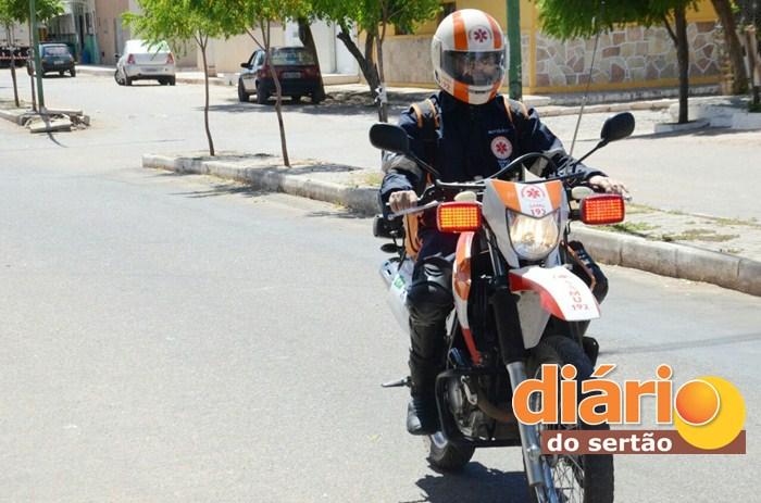 Samu de Sousa conta com o atendimento da Motolância (Foto: Diário do Sertão)