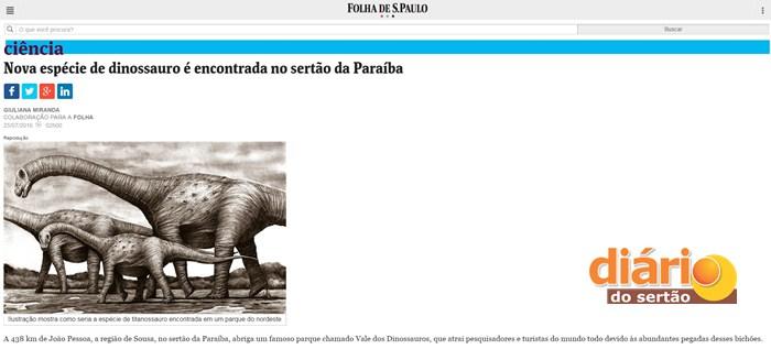 Site Folha de São Paulo trouxe a matéria da cidade sorriso (Foto: Reprodução)