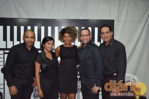 Quarteto de Cordas Pequeña Venecia e, no centro, a diretora do Prima na Paraíba, Priscila Santana