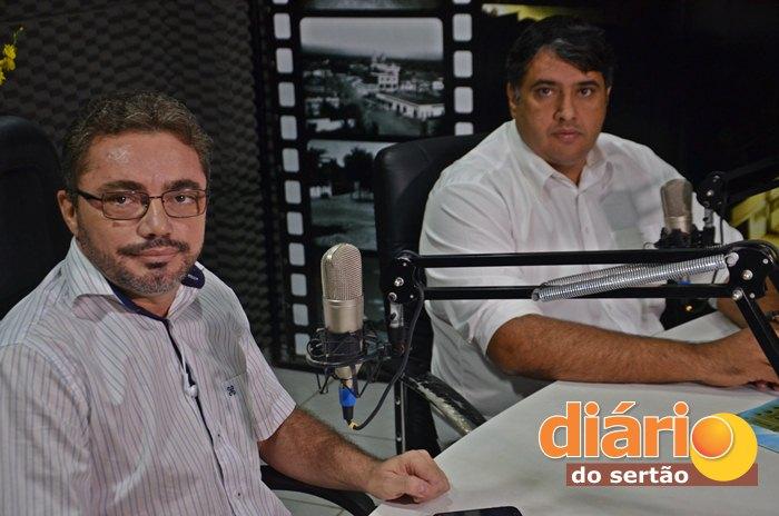 André Gadelha foi entrevisto pelo radialista Levi Dantas (foto: Charley Garrido)