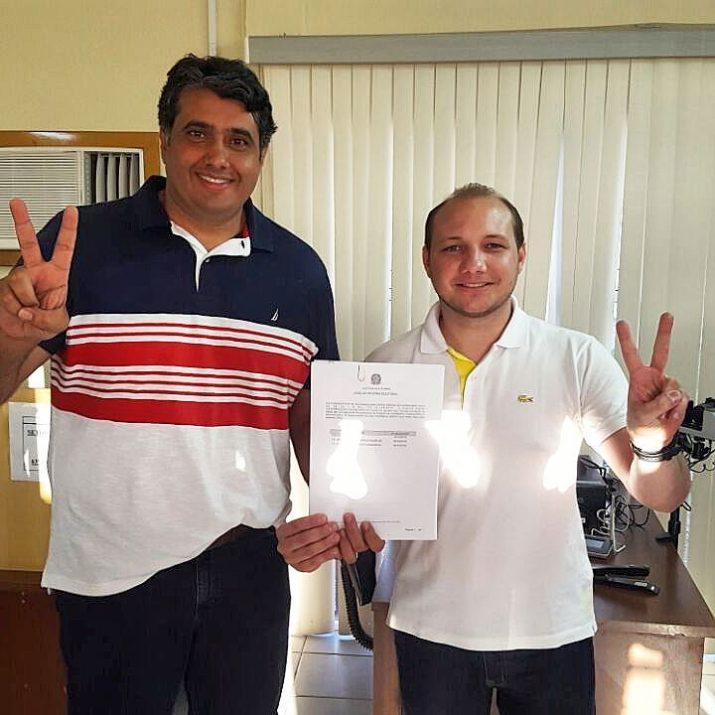 O atual prefeito da cidade e juntamente com seu vice, já registraram suas candidaturas (Foto: DS)