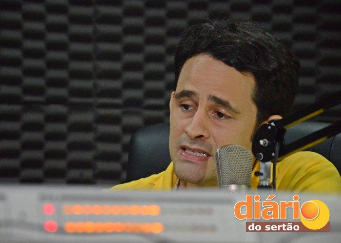 Ataíde Gonçalves Diniz na TVDS (foto: Paulo Ramon)
