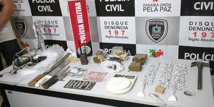 Material apreendido (foto: ascom/ polícia civil)