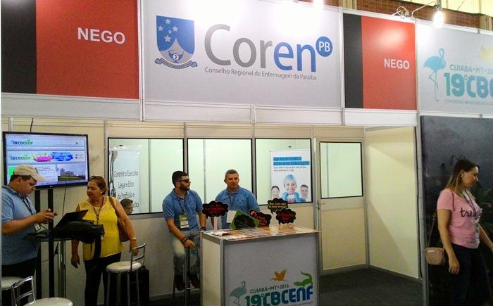 Stand do Conselho Regional de Enfermagem (COREN) da Paraíba