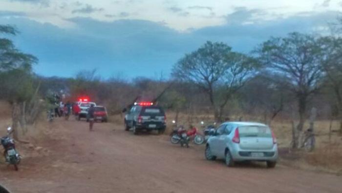 Crime ocorreu no sítio Lagoa do Bé em São João do Rio do Peixe (foto: WhatsApp)