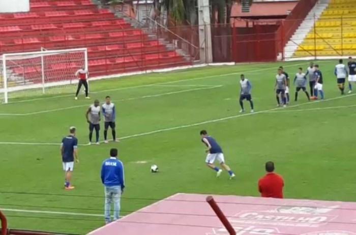 O Atlético de Cajazeiras vem fazendo parte da sua pré-temporada no interior de São Paulo (Foto: Divulgação)