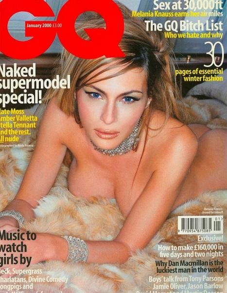 Melania Trump posou nua para a capa da GQ
