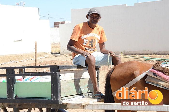 Francisco José da Silva trabalha há 15 anos catando lixo (foto: Charley Garrido)