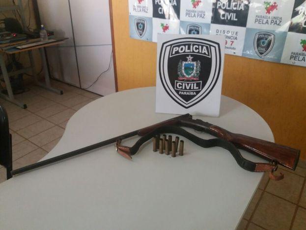 Arma apreendida em Catolé do Rocha, mas homem foi solto