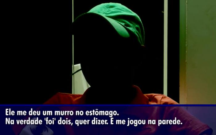 A criança relata bullying sofrido. (Foto: Reprodução / Globo)