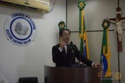 Dr. Waldecy Costa Alves durante palestra sobre o impacto da reforma da Previdência.
