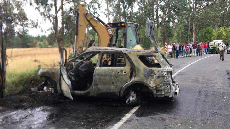 Tres personas mueren calcinadas tras grave accidente en Las Cabras