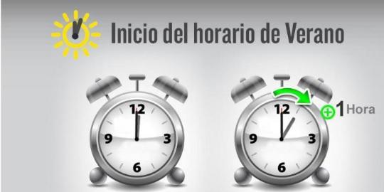 Este sábado se deberán adelantar los relojes — Cambio de hora